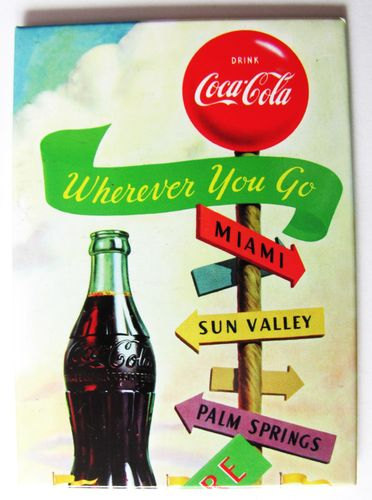 Coca Cola - Magnetkarte - Wherever you go....