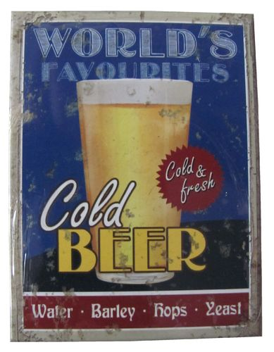 World´s Favourites - Cold Beer - Magnet - Kühlschrankmagnet